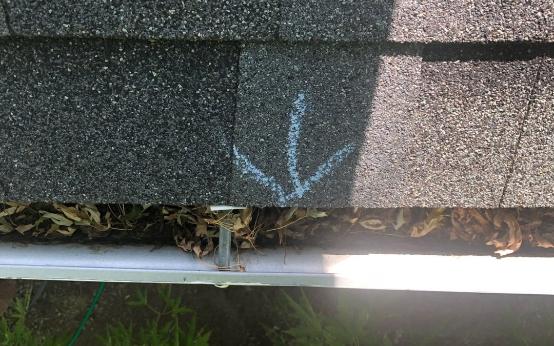 gutter damage from hail that we can fix